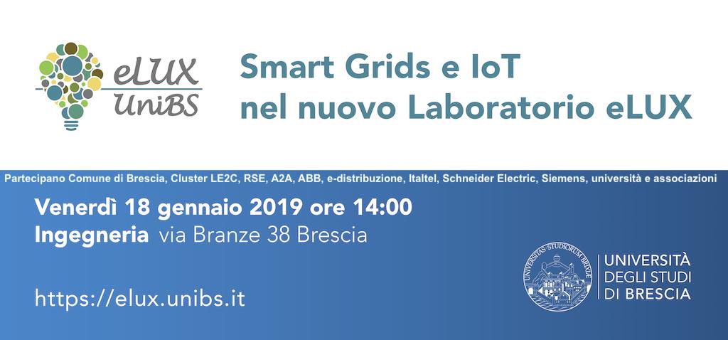 Smart Grids e IoT: prospettive, stato della ricerca e le sperimentazioni in corso nel nuovo laboratorio eLUX